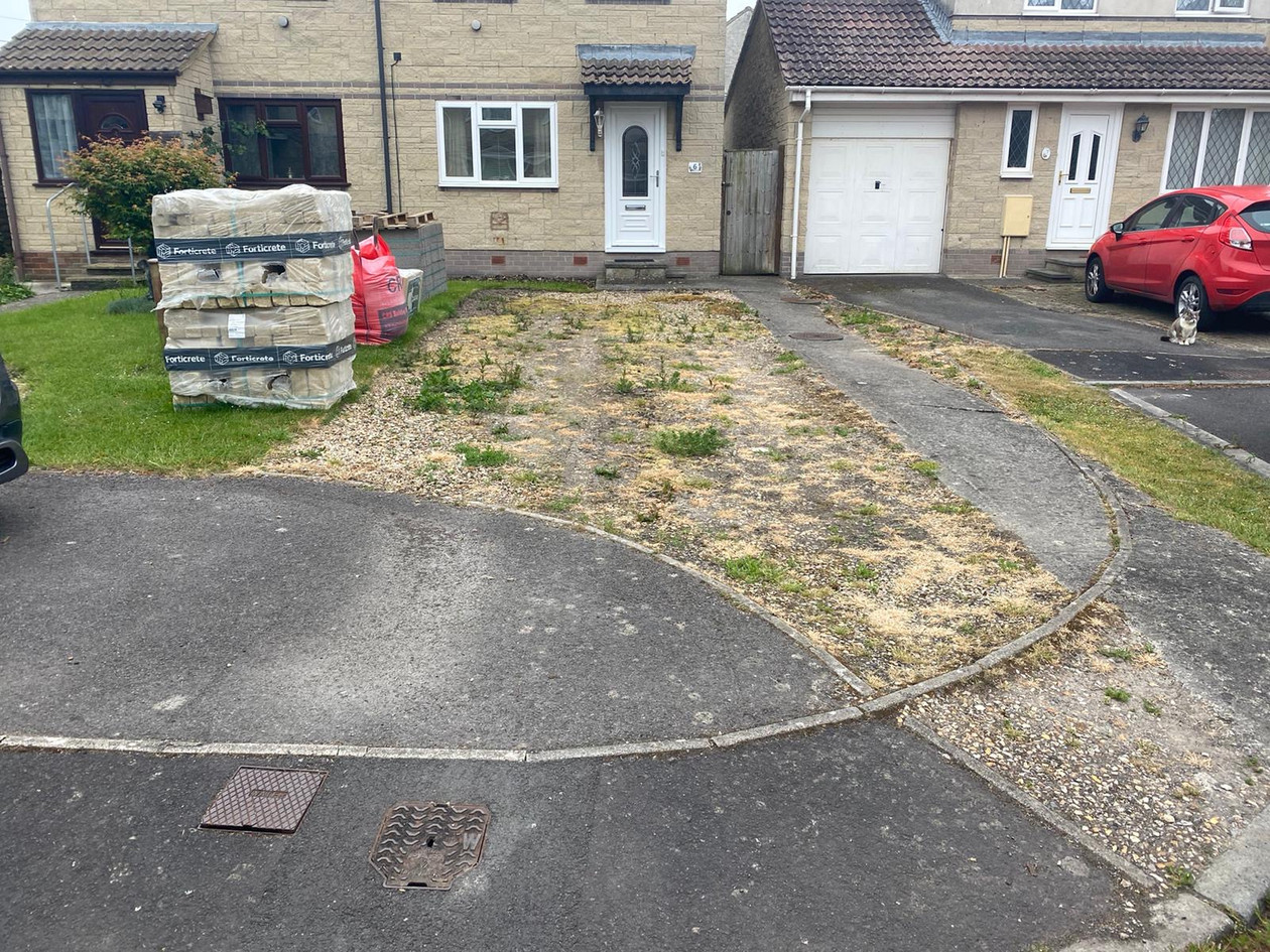 Before Front Driveway