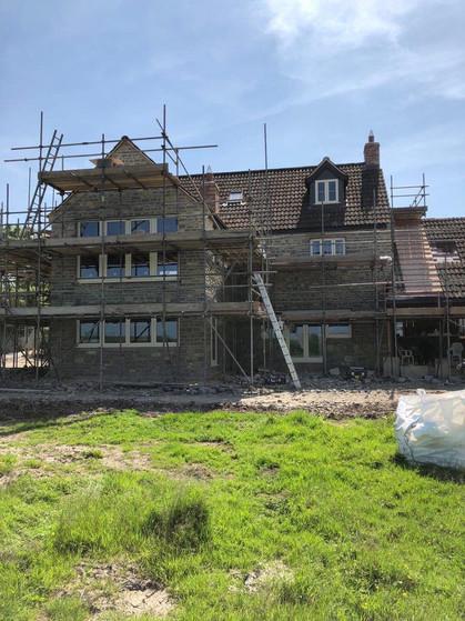 Stonework New Build in Progress