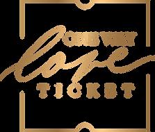one way love ticket logo gold
