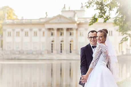 plener ślubny Justyna i Kamil Łazienki Królewskie w Warszawie