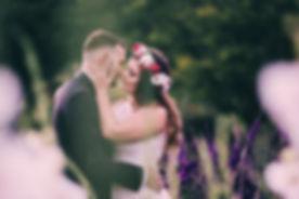 plener ślubny ogród botaniczny w Powsinie