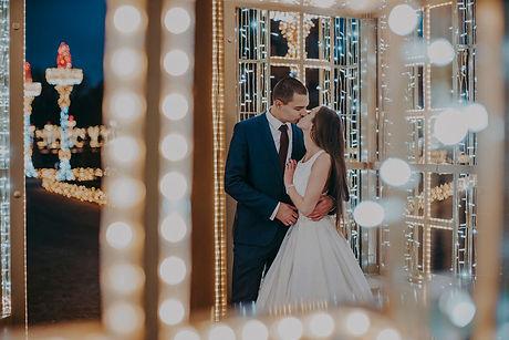 sesja ślubna iluminacja wilanów plener ślubny nocą