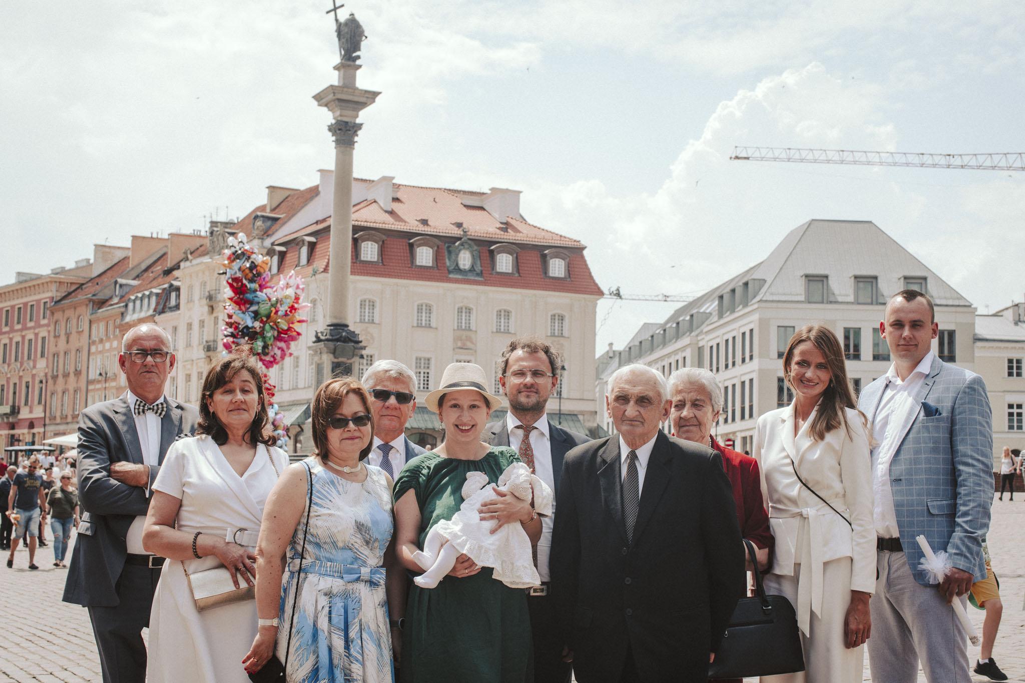 chrzest święty starówka Warszawa