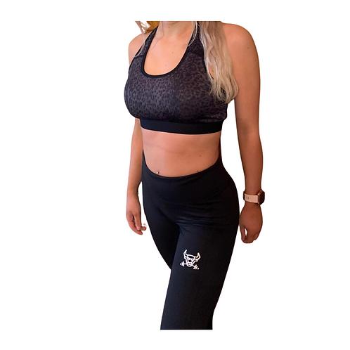 Women's performance Leopard printed sports bra