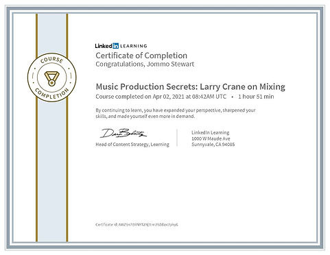 CertificateOfCompletion_Music Production