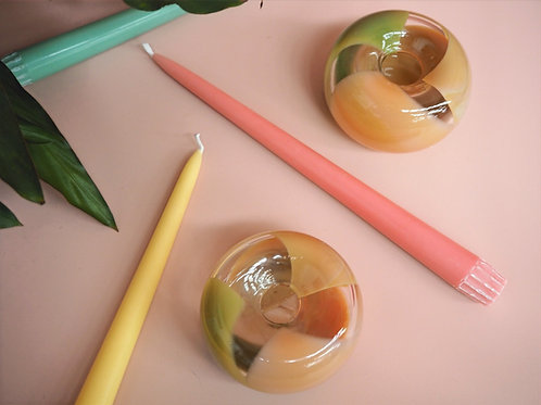 Colour Puff - Candle Holder in Ochre