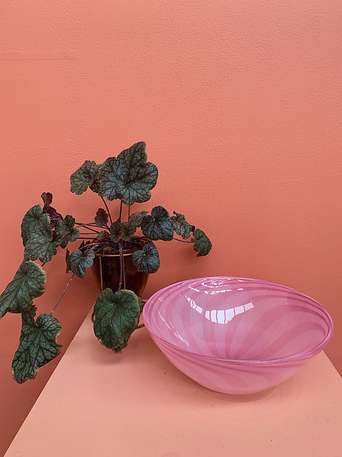 Soft Swirl Bowl in Rose