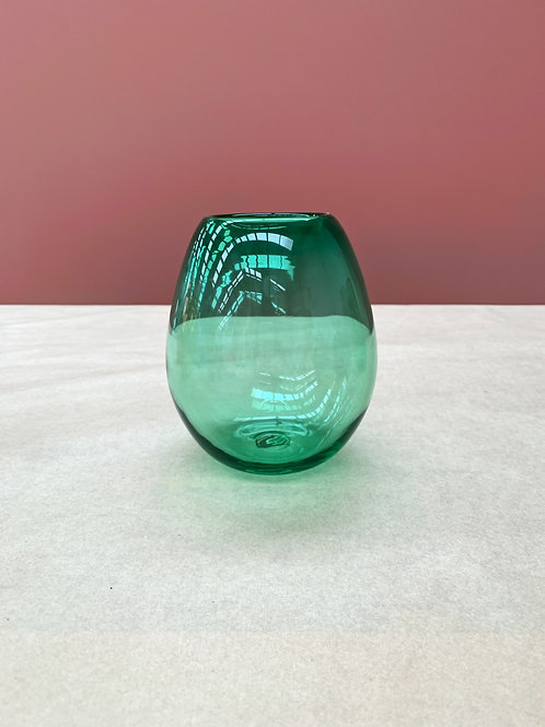 Gum Drop Vase in Emerald