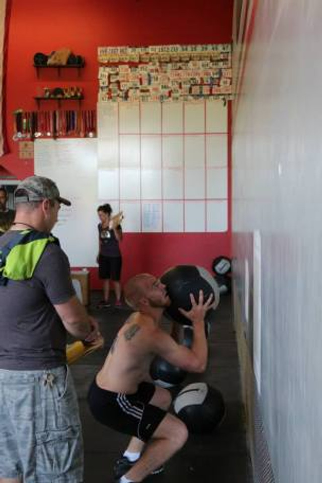 Tyler working on WOD #1 at Leave No Survivors - Great to see his progress!