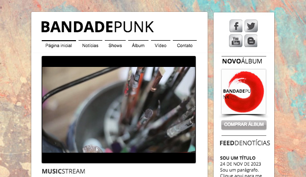 Banda website templates – Banda Punk
