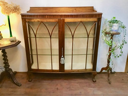 Solid Mahogany Display Cabinet 1910年代