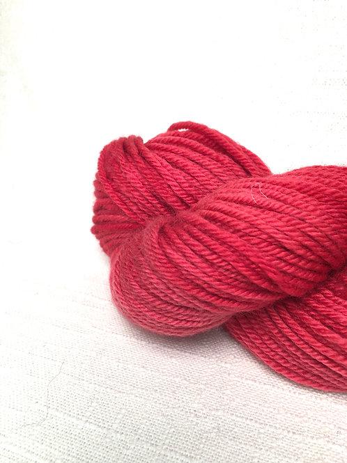 2 skein yarn pack - ET red - worsted wool