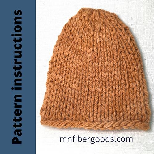 PDF Pattern - Big Pine Hat