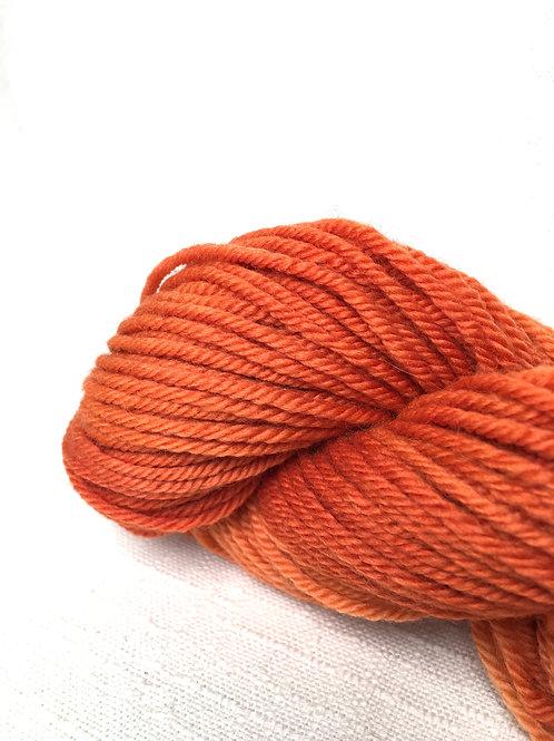 2 skein yarn pack - JC orange - worsted wool
