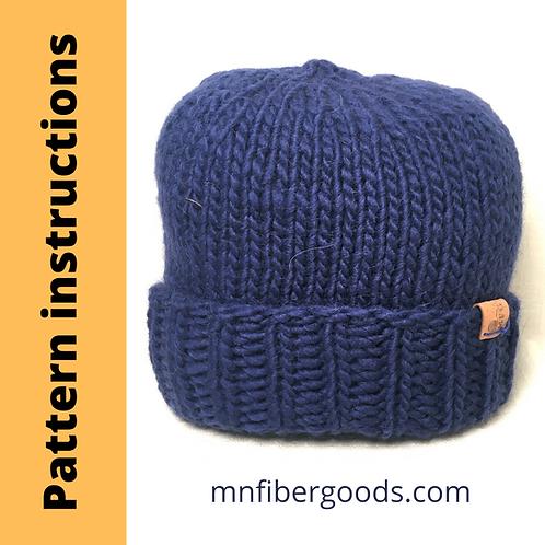 PDF Bulky Barrett Hat Pattern