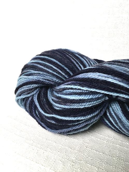 HI blue - variegated sport - wool