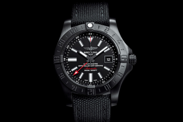 Breitling Avenger II GMT Blacksteel replica watch