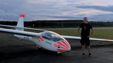 Kesän kolmas uusi purjelentolupakirja Varkauden Lentokerhossa