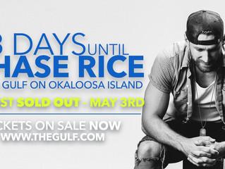 Chase Rice, Matt Stell and Luke Langford Band at The Gulf on Okaloosa Island 5/3!!