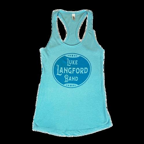 Vintage Ladies Tank - Turquoise
