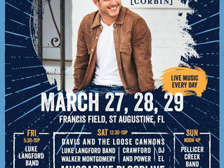 Just Announced! Rhythm and Ribs Fest March 27/28 w/ Easton Corbin, Muscadine Bloodline and more!