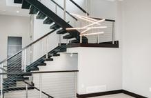 floating stairs, modern lighting