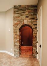 custom stone entry