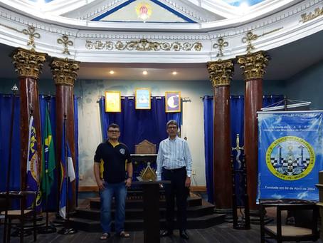 Grão-Mestre da GLM de Sergipe visita GLM PE