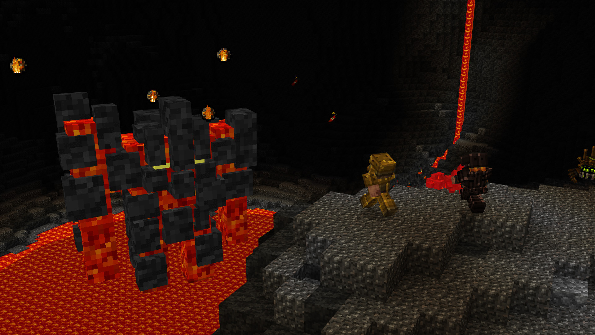 Brave miners go head to head with a fierce lava monster.