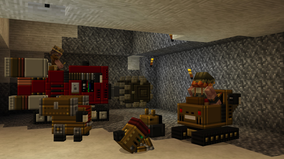 Adventurers use some of the Dwarven Mining Company's finest technologies to tunnel through the underground.