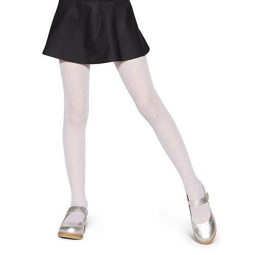 Meia Calça Branca de Poá