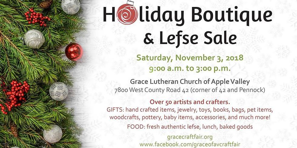 Holiday Boutique & Lefse Sale