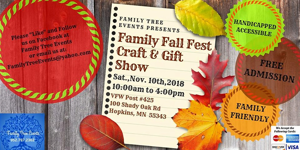 Family Fall Fest Craft and Gift Show