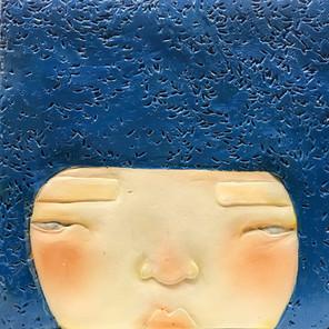 Portrait in Rice Blue