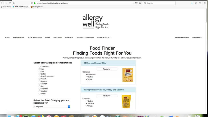 See how to use our Food Finder
