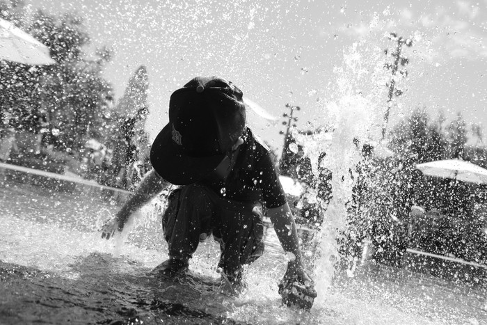Beating the Heat in DTLA:  Grand Park Splash Pad