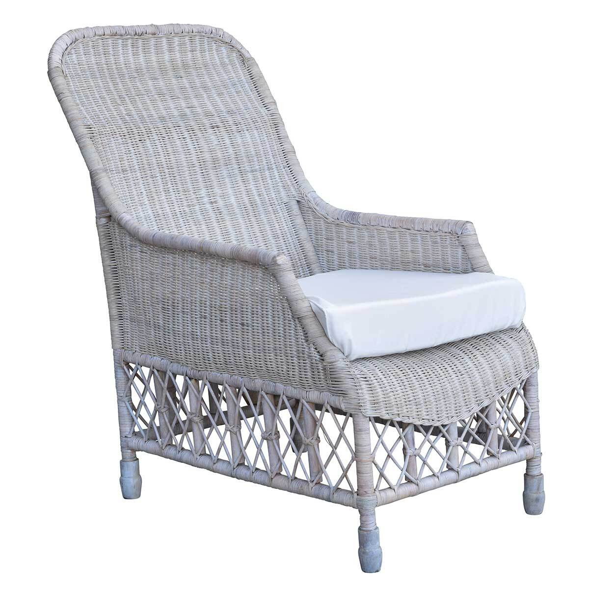 South Hampton Whitewash Armchair