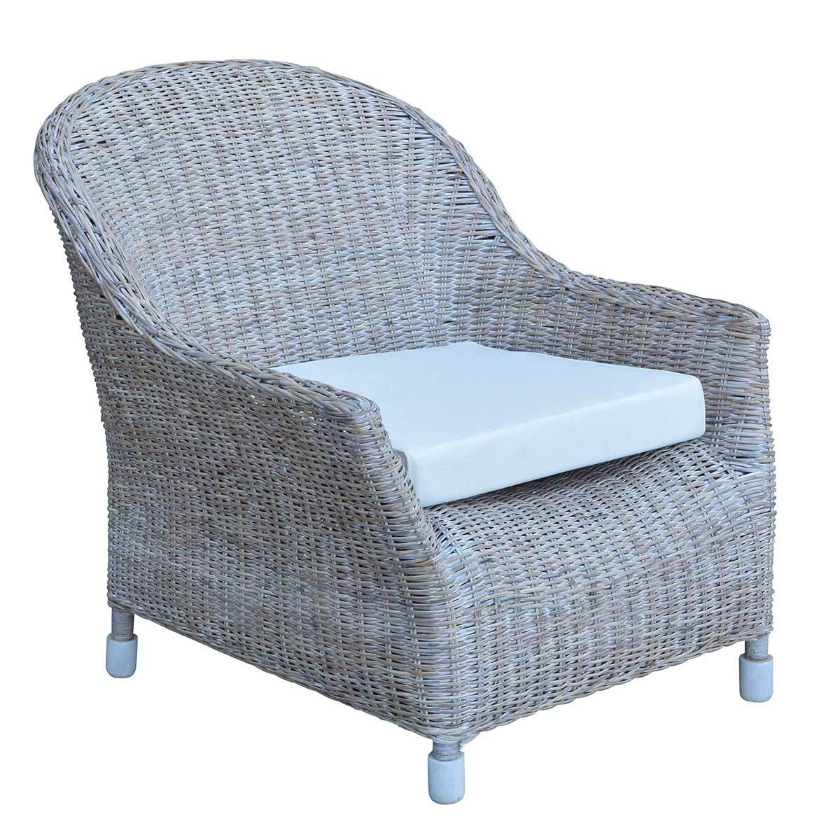 Island White Wash Armchair