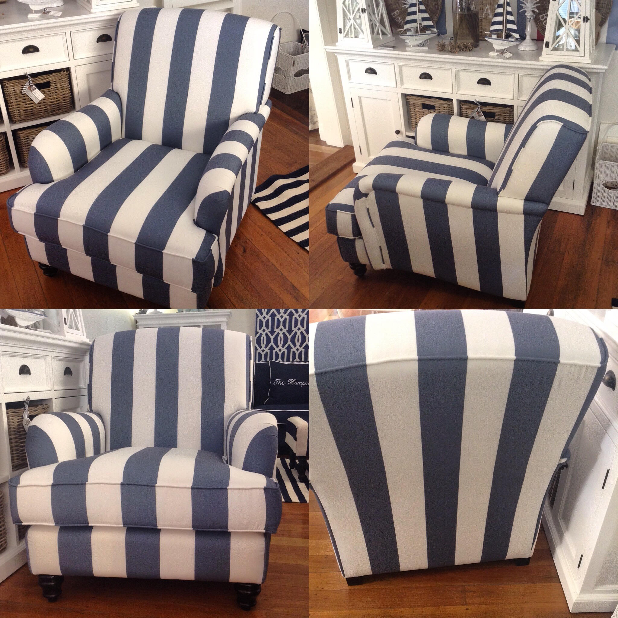 Maine Striped Armchair