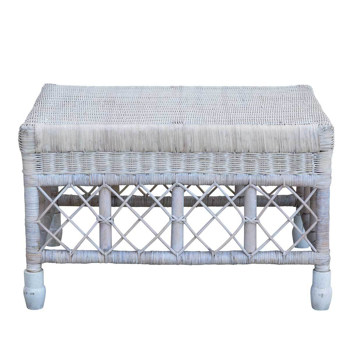 South Hampton Whitewash Ottoman