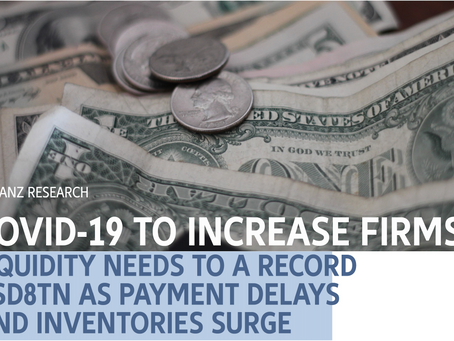 COVID-19 pushes liquidity needs to a record USD 8 TRILLION as payment delays & inventories surge