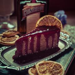 Torta de chocolate com contreau do Agridoce Café