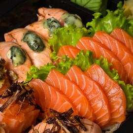Sushi de salmão do Sushi Seninha