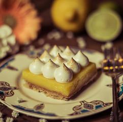 Torta de limão do Agridoce Café