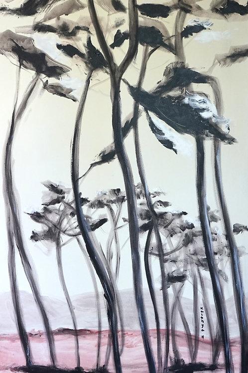 """""""les cigales..."""" Peinture sur toile"""