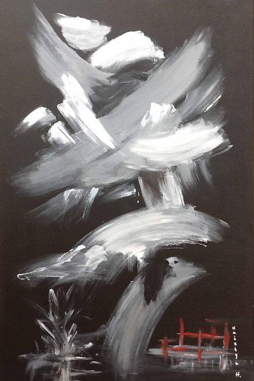 """""""Noir nocturne...""""  peinture sur toile"""