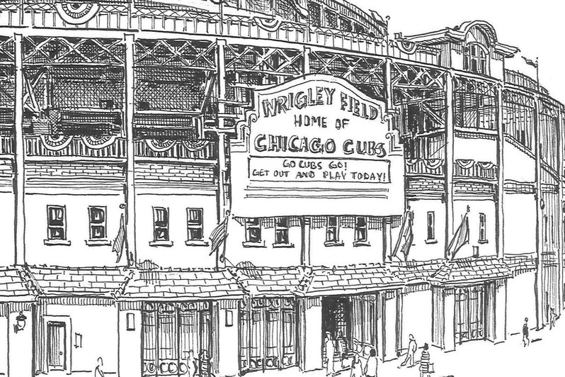 Wrigley Field Detail
