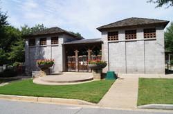Pool Entrance and Bath Houses