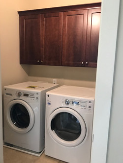 Laundry Room with Washer/Dryer Installed