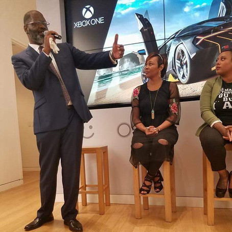 Our CEO Speaking At The Microsoft Store Inspiring The Youth.